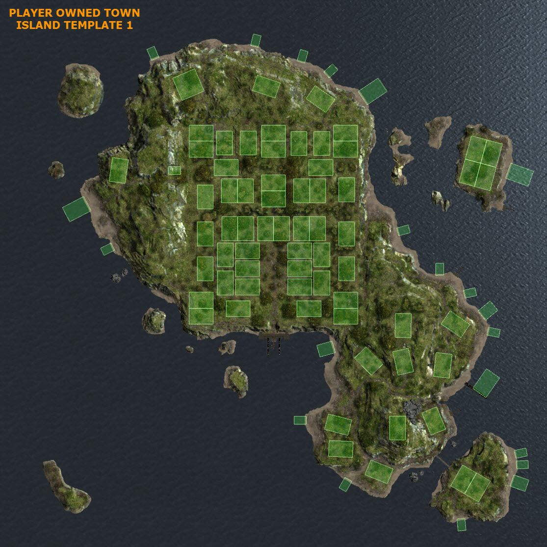 "Looking For A ""blank"" Map Of The Island Template"