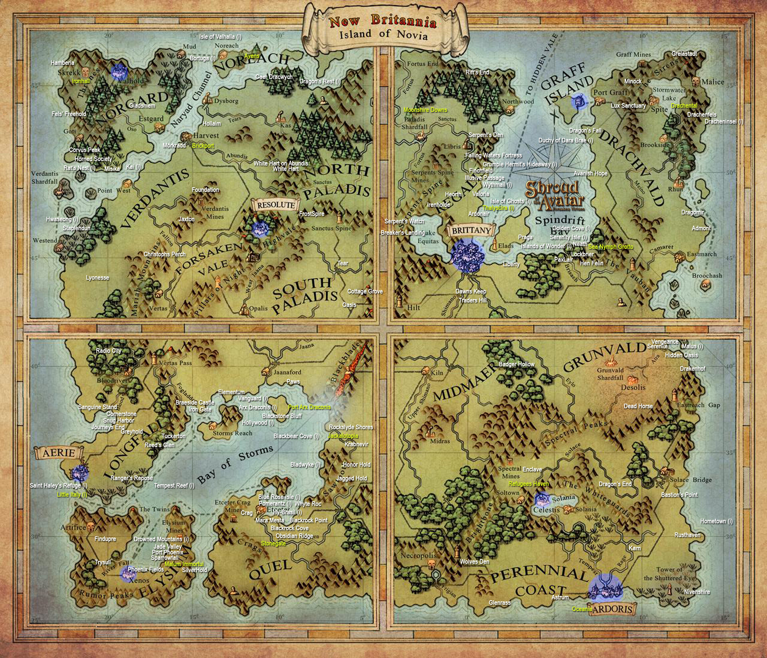 Sota Map   Updated | Shadows of the Realm