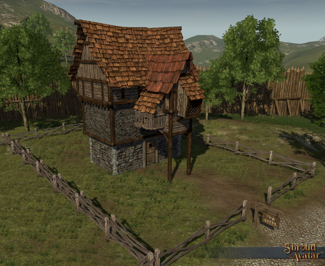 SotA_Rustic_2Story_village_home