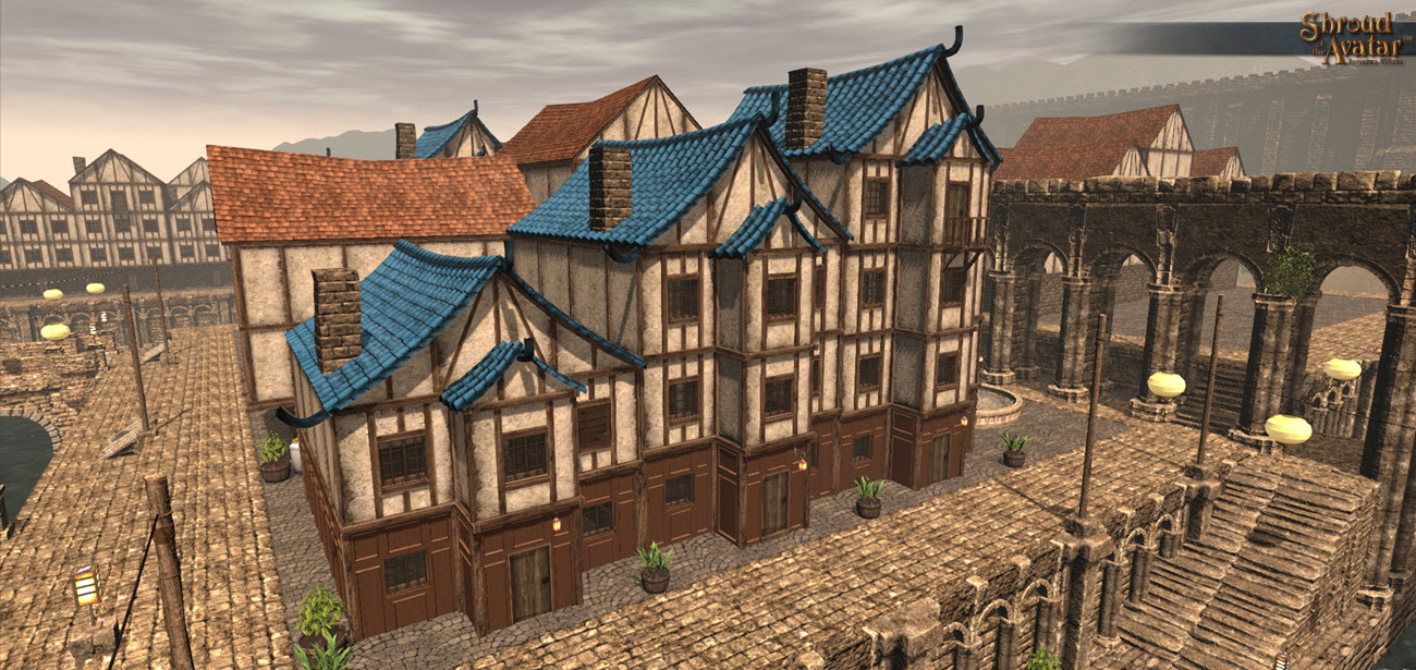 Blue Tile Roof Row Houses