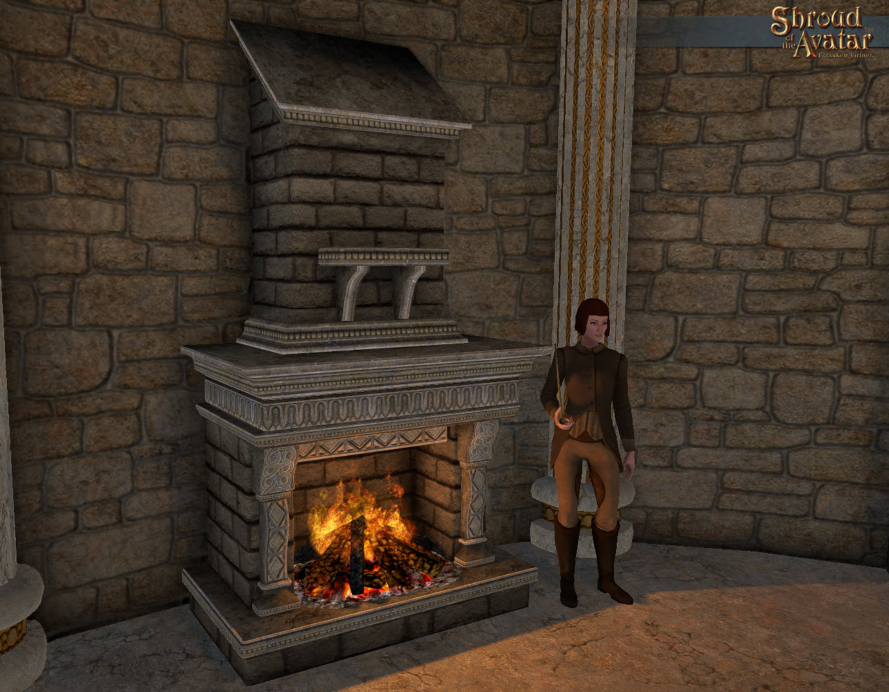 fireplace and chimney.  1 ea Ornate Stone Fireplace Chimney Roof Extension Markee Dragon Game Codes Shroud of The Avatar