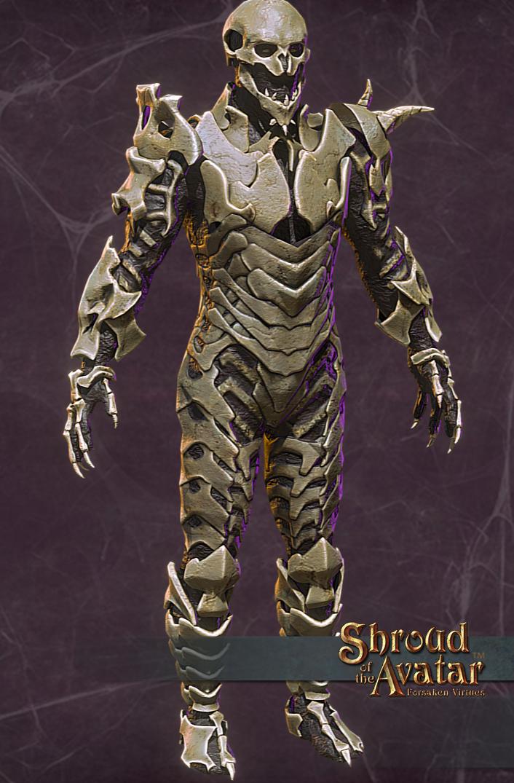 Le ossa che compongono l'armatura vengono dai vari boss del gioco