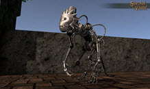 Silver Clockwork Monkey