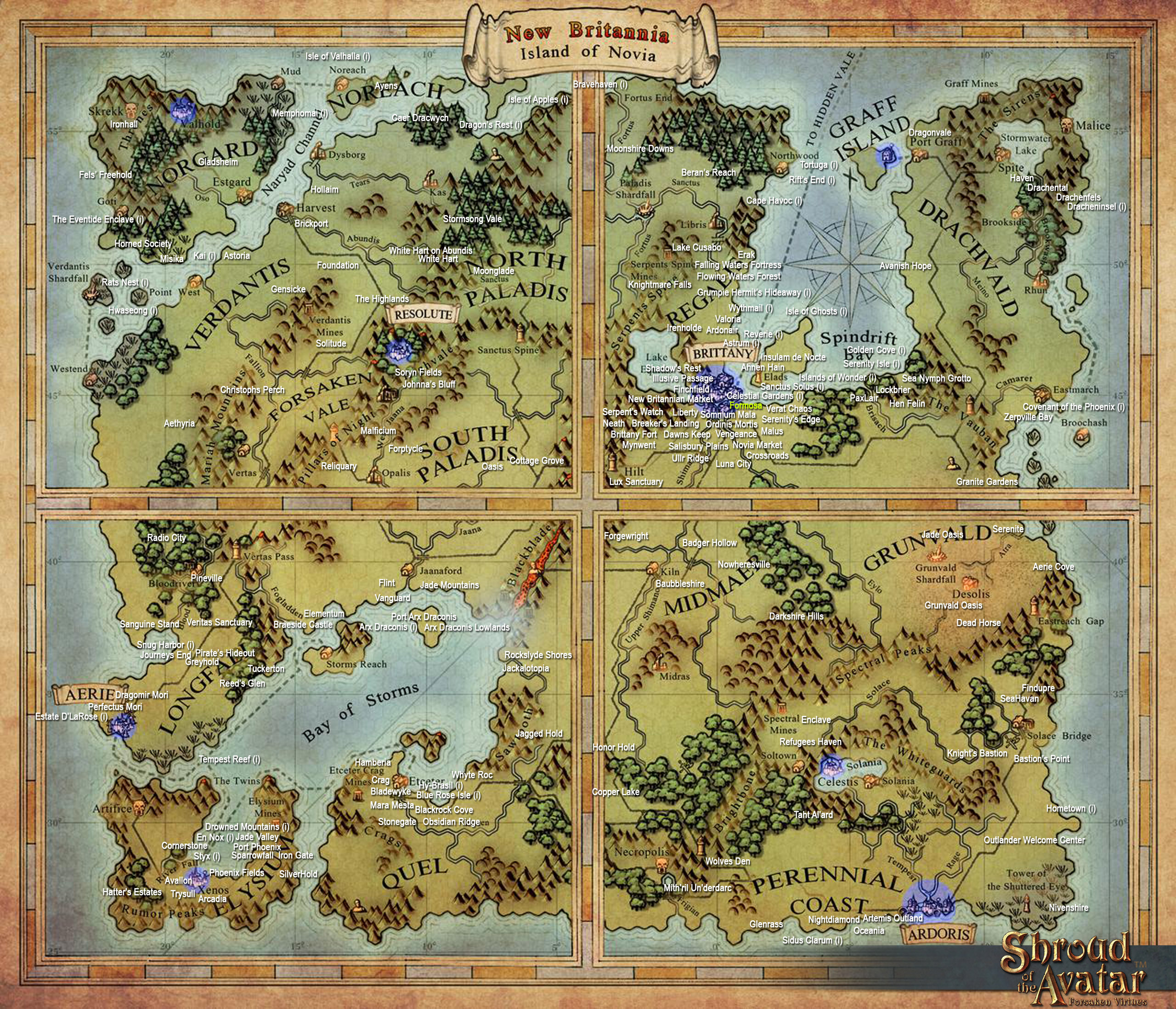 Shroud Of The Avatar World Map.Release 47 Instructions Shroud Of The Avatar