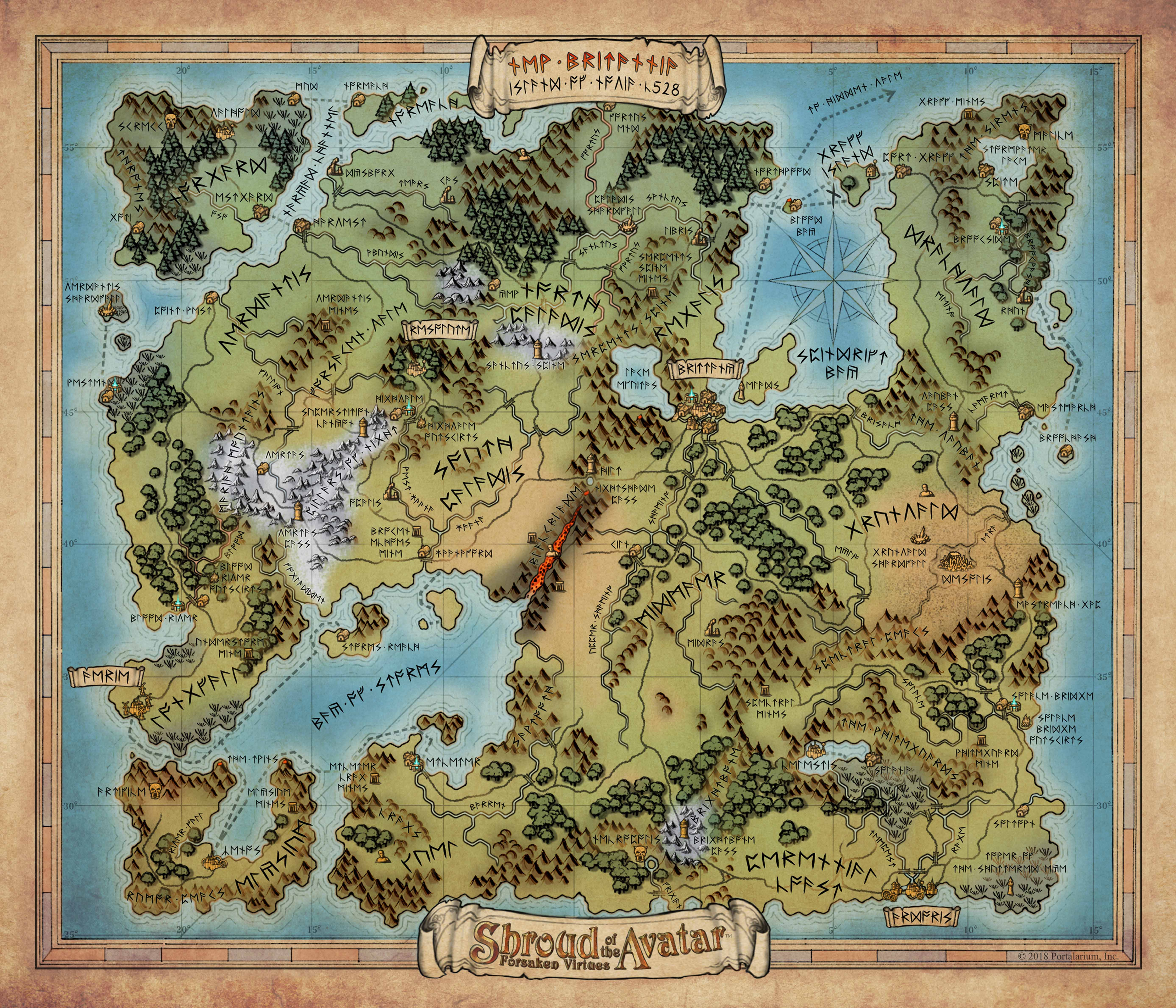 Shroud Of The Avatar World Map.Release 50 Instructions Shroud Of The Avatar