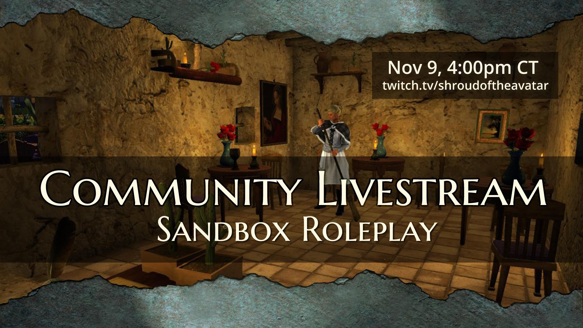 Avatar's Update #305: Sandbox Livestream Today & R60 on QA