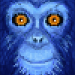 Dark Blue Monkey 2